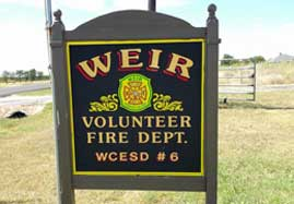Weir station sign